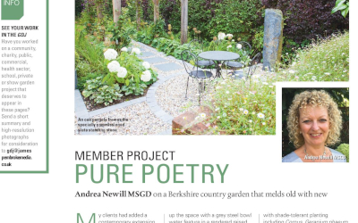 Contempory Country Garden featured in the Garden Design Journal