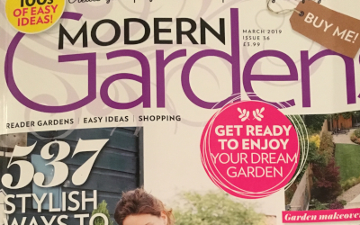 Zoned Courtyard Garden featured in Modern Gardens magazine